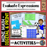 Evaluating Expressions Math Activities Puzzles and Riddle