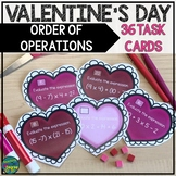 Valentine's Day-Order of Operations Task Cards