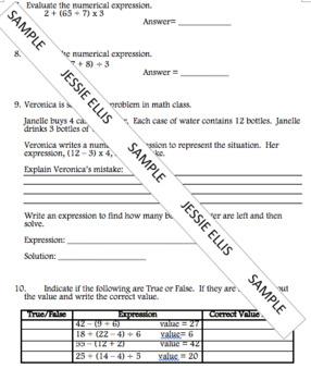 Evaluate Expressions Quiz