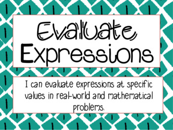 Evaluate Expressions at Specific Values
