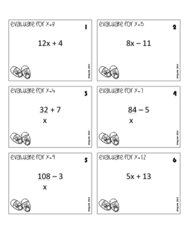 Evaluate Expressions - single variable - You Got Stomped Math Game
