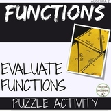 Evaluating Functions Puzzle Activity for Algebra 2 and Pre