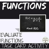 Evaluating Functions Task Card Activity for PreCalculus