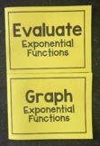 Evaluate & Graph Exponential Functions (Algebra Foldable)