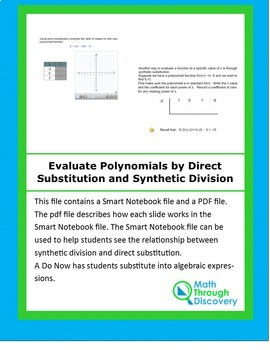 Evaluate Polynomials by Direct Substitution and Synthetic Division