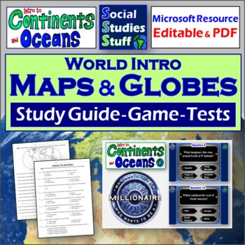 Evaluate- Review Game and Assessment (Continents and World)