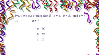 Evaluate Variables and Expressions