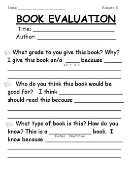Evaluate Your Own Book (Differentiated)