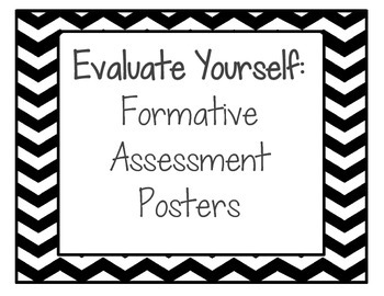 Evaluate Yourself! Formative Assessment Posters