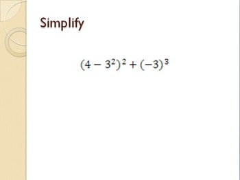 Evaluate and Simplify Algebraic Expressions