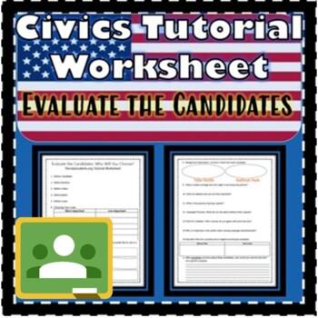Evaluate the Candidates Floridastudents.org Tutorial Worksheet Civics SS.7.C.2.9