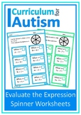 Evaluate Expressions Autism Special Education Middle School Math