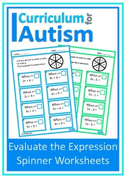 Special education algebra teaching resources teachers pay teachers evaluate the expression autism special education resource room fandeluxe Gallery