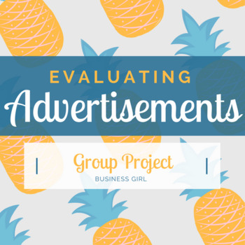 Evaluating Advertisements Group Project