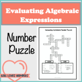 Evaluating Algebraic Expressions Number Puzzle