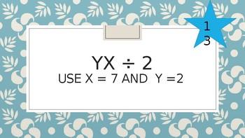 Evaluating Algebraic Expression Scavenger Hunt