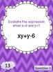Evaluating Algebraic Expressions Scavenger Hunt