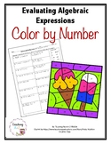 Evaluating Algebraic Expressions Color by Number Activity