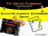 Evaluating Algebraic Expressions Escape Room | The Escape Classroom
