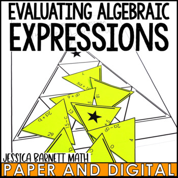 Evaluating Algebraic Expressions Puzzle Activity