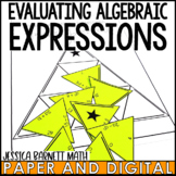 Evaluating Algebraic Expressions Puzzle Activity