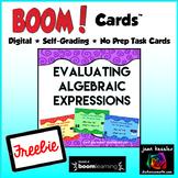 Evaluating Algebraic Expressions with BOOM Cards Digital 1