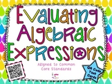 Evaluating Algebraic Expressions**QR CODE Task Cards**