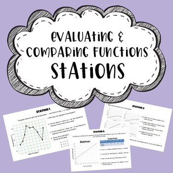 Evaluating, Analyzing, & Comparing Functions - STATIONS