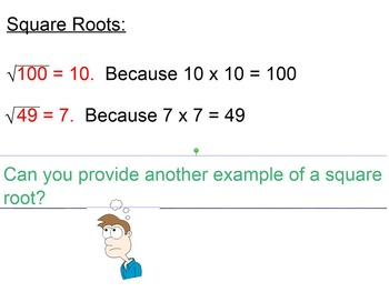 Evaluating, Approximating, and Simplifying Square Roots