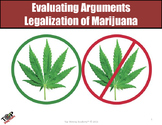 "Argument Analysis Activity ""Legalization of Marijuana"""