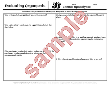 Halloween Argument Analysis Surviving a  Zombie Apocalypse