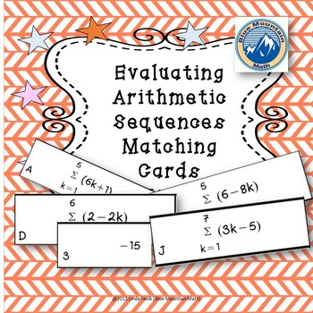 Evaluating Arithmetic Series Matching Card Set