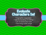 Evaluating Character Traits Graphic Organizers Common Core Skill