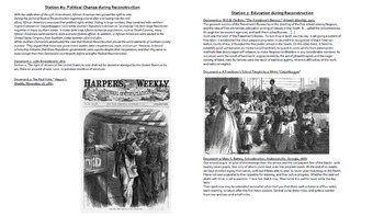 Evaluating Civil War Reconstruction: Gallery Walk and Writing Activity