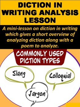 Diction in Writing Analysis Lesson