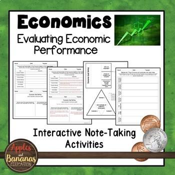 Evaluating Economic Performance -  Interactive Note-taking Activities
