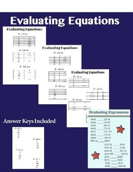 Evaluating Equations Bundle