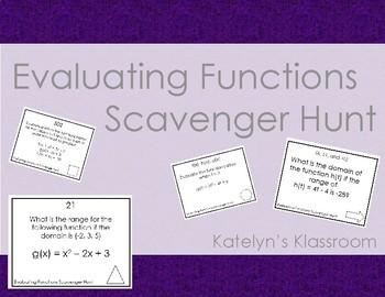 Evaluating Equations Scavenger Hunt