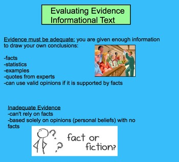 Evaluating Evidence - Informational Text