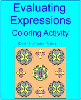 EXPRESSIONS: EVALUATING #2 - COLORING ACTIVTY