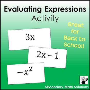 Evaluating Expressions Activity