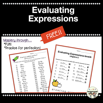 Order of Operations, Evaluating Expressions, Fun Fact, Algebra I/Pre-Algbra