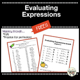 Order of Operations, Evaluating Expressions, Fun Fact, Alg