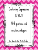Evaluating Expressions BINGO! with answer key