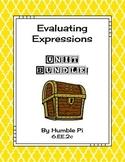 Evaluating Expressions Bundle-6.EE.2c