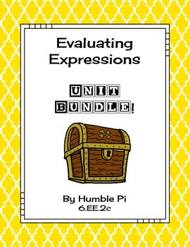 Evaluating Expressions Bundle-6.EE.2c