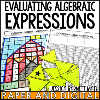 Evaluating Algebraic Expressions Activity Pack