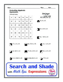 Evaluating Expressions Coloring Search and Shade