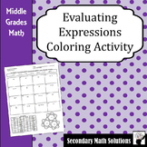 Evaluating Expressions Coloring Activity