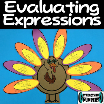 Evaluating Expressions Cooperative Turkey Activity Puzzle Thanksgiving